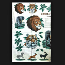 Wildlife Safari Animals No Sew VIP Cranston 100% Cotton Crafting Appliqu... - $3.00