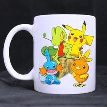 Pokemon Pikachu and Friends Custom Personalized Coffee Tea White Mug - $13.99