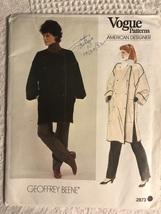 Vogue 2873 Geoffrey Beene Sewing Pattern Coat Sz M 12~14 Uncut - $24.95