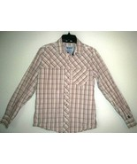 Levi Strauss Two Horse Brand Mens S Western Shirt Pearl Snap Brown Plaid... - $21.77
