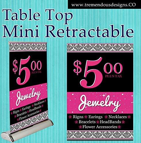 "Jewelry Papa Consultant Mini Display Table Top Banner Stand 11.5""x17.5"""