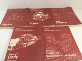 1974 Ford Car Shop Service Manuals - 5 Volumes - FPS 365-126-74 Second P... - $39.99