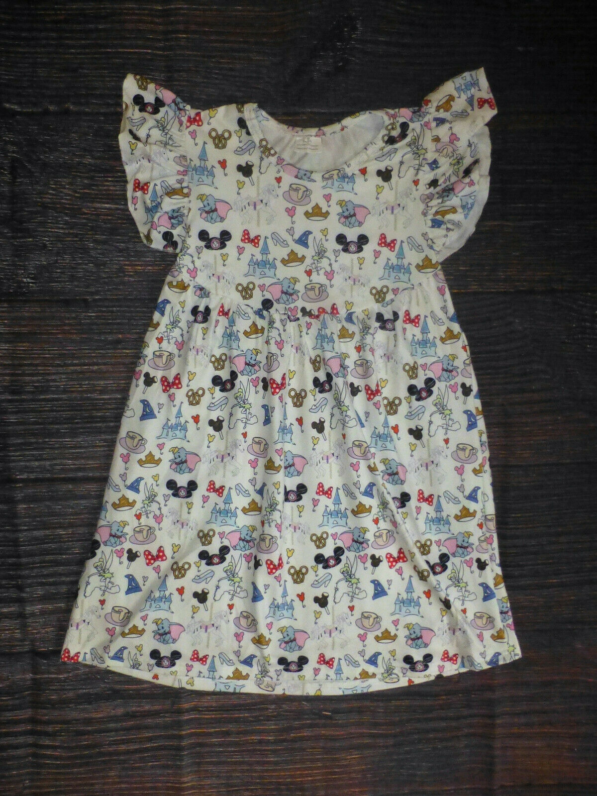 Primary image for NEW Boutique Disneyland Girls Sleeveless Ruffle Dress 18M 2T 3T 4T 5-6 6-7