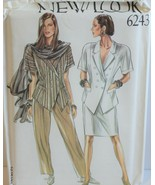 New Look 6243 Sewing Pattern Jacket Skirt Pants Sizes 8-18 Factory Folde... - $13.49