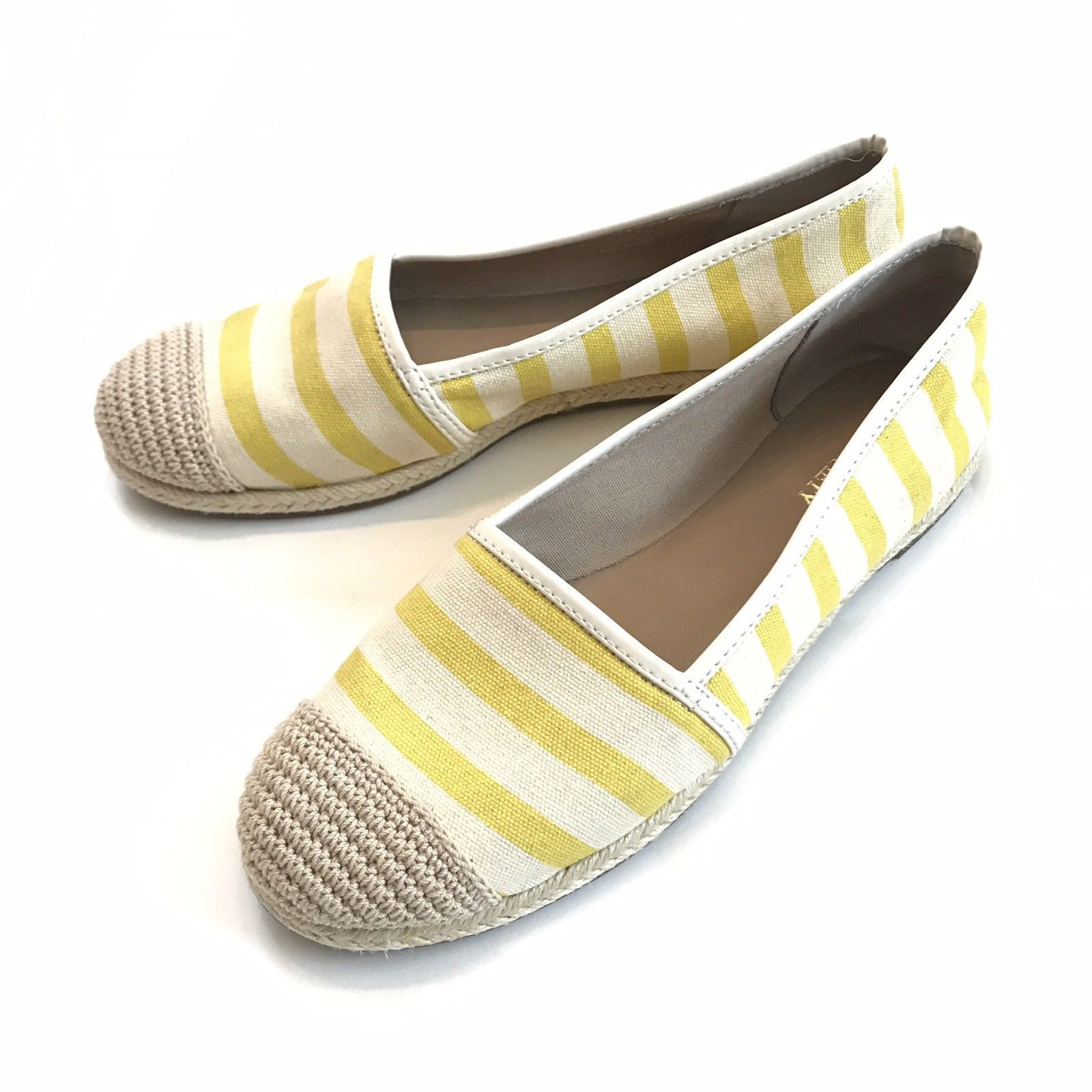 Sole Society Landon Espadrille Flats Women 9 Yellow Shoes Anthropologie Striped