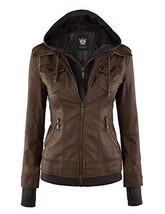NEW LL Womens Everyday Bomber Jacket Coffee Medium - Made in USA FREE SH... - $82.78