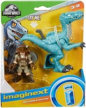 Fisher-Price Imaginext Jurassic World, Muldoon & Raptor - $12.86