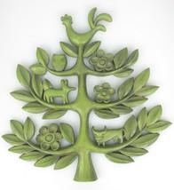 Homco Tree Of Life Decor Wall Plaque Mid Century Folk Art Kitsch 4770A V... - $26.99