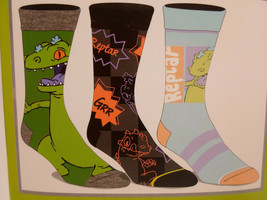 Nickelodeon Rugrats Crew Socks 3 Pair Pack Men's Shoe Size 8 to 12 - $11.49