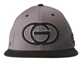 Gold Wheels Skateboarding Silver Grey Black Classic Logo Snapback Baseball Hat image 1