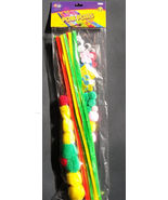 KIDS CRAFT KIT Pompoms 50+ pieces Pipecleaners Foam Shapes NEW - $4.99