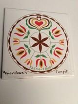 Vintage Trivet Ceramic Accent Wall Tile Pennsylvania Turnpike Faith Trus... - $10.45
