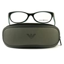 Emporio Armani EA3008F Eyeglasses 5052 Black/Azure Full Rim Plastic 53 1... - $57.00