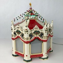 Dept 56 Snow Village Carnival Carousel Musical Rotating Projection Scree... - $79.18