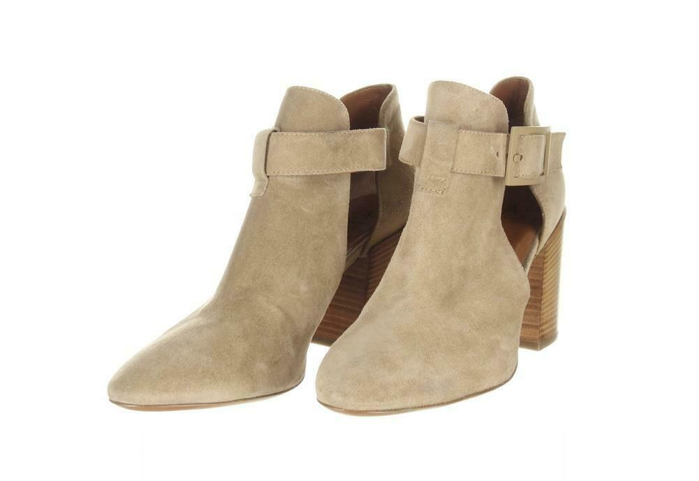 Aquatalia Women's Suede Cutout Booties Tan Ankle Boots Booties Sz. 10.5. image 4