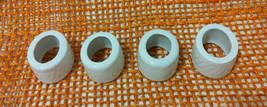 Lot of 4 Oval Ceramic Napkin Rings White - $7.92