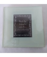 """Set of 2 Small Glass 1 1/2 x 2 Photo Picture Coasters 3 1/2"""" Coaster - $8.41"""
