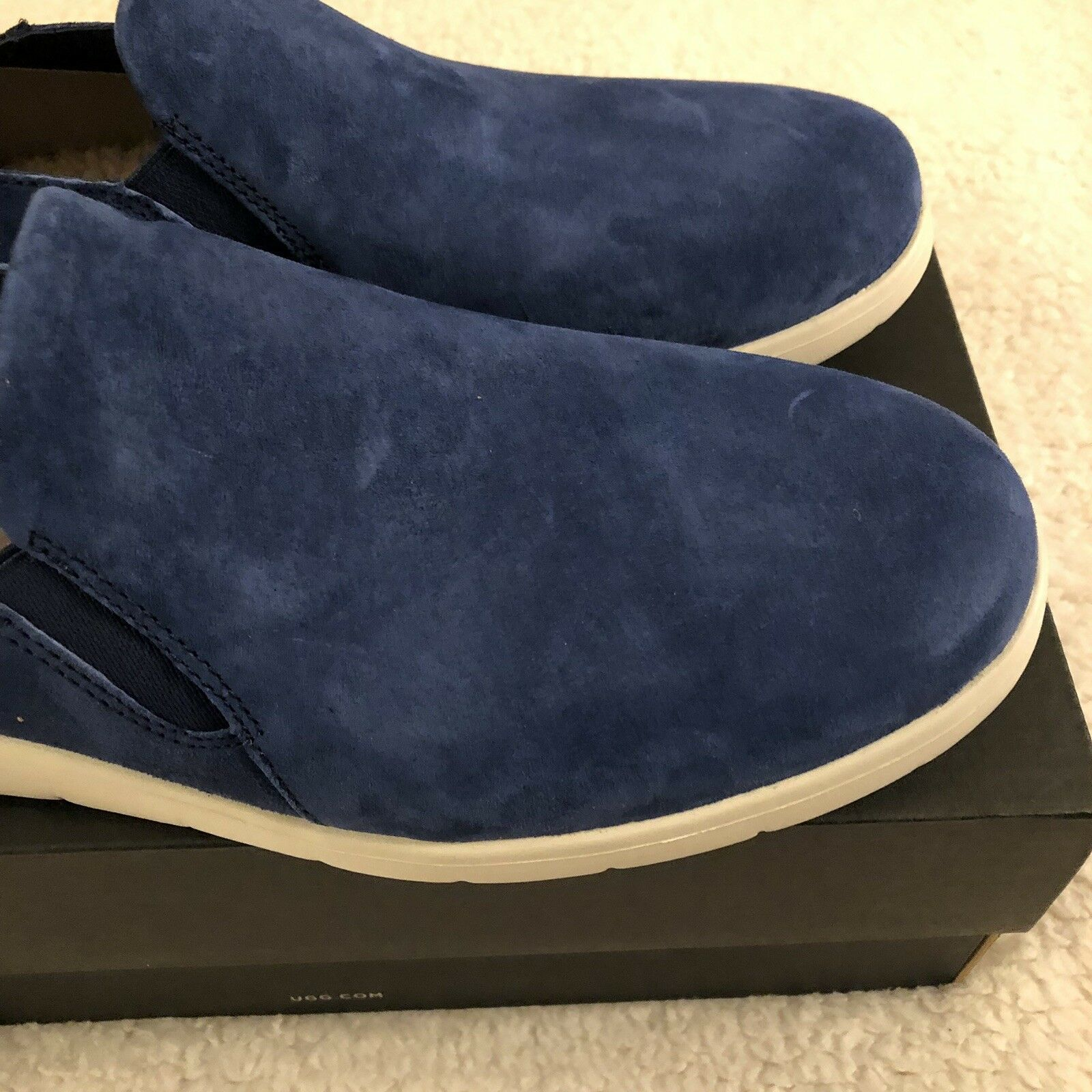 NEW UGG Men's Knox Suede Slip On Sneaker, Sizes 9, 11  Blue, MSRP $100 image 10