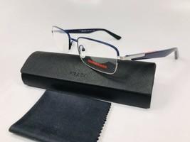 New Prada Sport Vps 55B ACC-1O1 Blue Eyeglasses 54mm With Case - $101.92