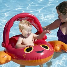"""Swim Ways 34"""" Inflatable Sun Canopy Baby Boat Crab Float 9-24 months Step 1 NIB image 2"""