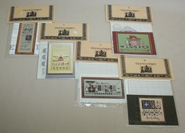 Lot of 5 Told in a Garden Cross Stitch Patterns Schoolhouse Auction Quil... - $22.28