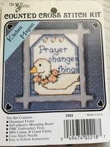 The New Berlin Co 2503 Prayer Changes things Counted Cross Stitch Kitche... - $6.49