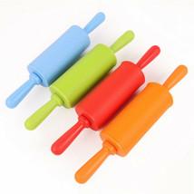 Mini Plastic Handle Pizza Stick Food-grade Silicone Roller Rolling Pin F... - $4.49