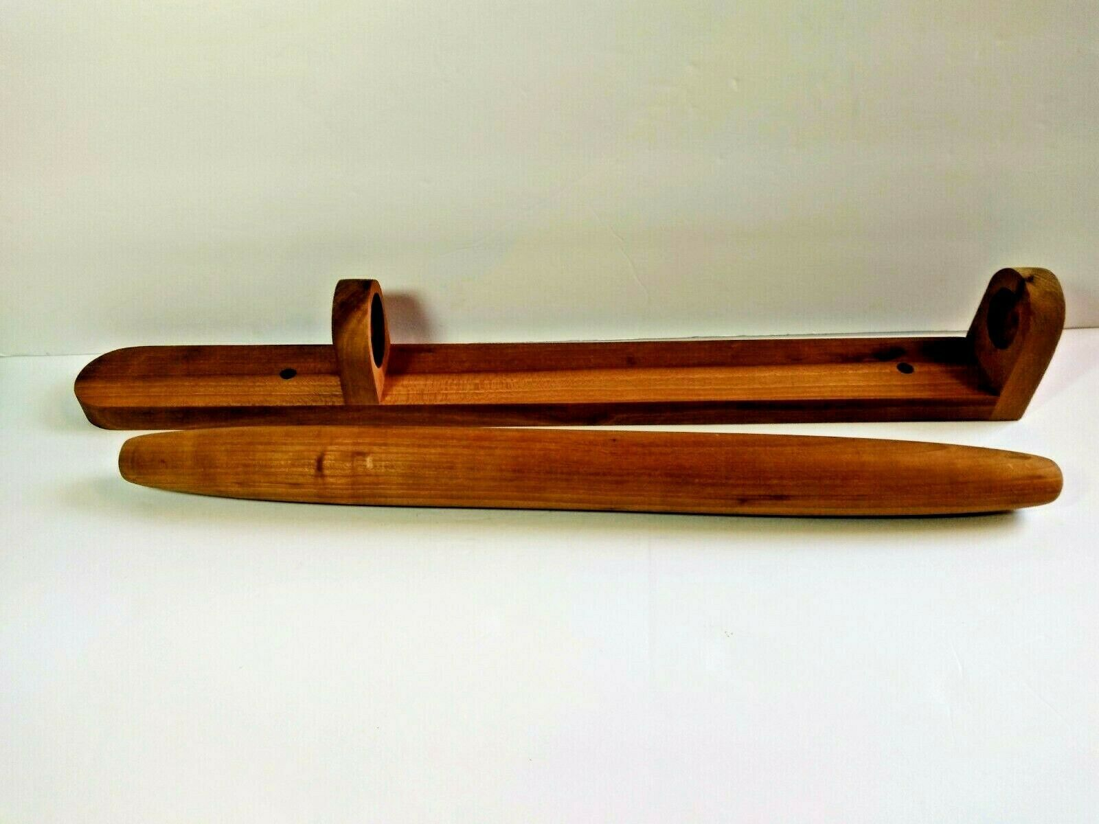 Primary image for Handmade French Rolling Pin 20'' BEREA COLLEGE Kentucky Wall Mount VTG hand turn