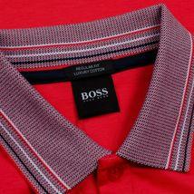 Hugo Boss Men's Short Sleeve Regular Fit Paddy 1 Bright Red Polo Shirt SS20 image 4