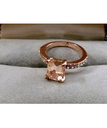 Copper Ring with crystals on the Sides and Copper Colored Stone - $5.00