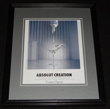 2010 Absolut Creation Framed 11x14 ORIGINAL Vintage Advertisement - $34.64