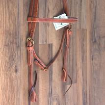 "3/4"" Hilason Hermann Oak Harness Leather Laced Cheeks Horse Browband Headstall U - $47.99"