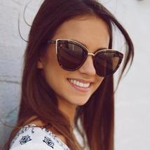 Zonnebril Dames Sunglasses 2019 Vintage Brand Designer Sunglasses Cat ey... - $44.80