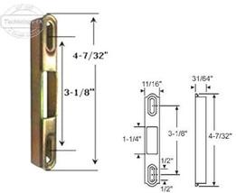 """Sliding Glass Patio Door Keeper, 4-7/32"""" Height x 11/32"""" Width - $9.85"""