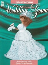 Wedding Gown ~ Crochet OOP NEW Pattern Book RARE Fashion Barbie Doll Ens... - $2.92