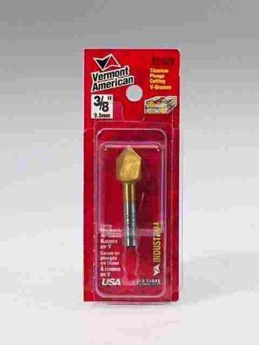 Vermont American 22320 3/8-Inch Titanium V-Groove Router Bit