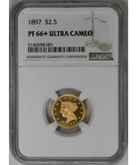 1897 $2.50 Liberty Head JD-1, High R.4. NGC PR66+DC Proof Quarter Eagle ... - $23,000.00