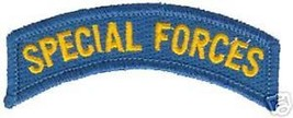 Army Special Forces Blue Gold Rocker Patch - $13.53