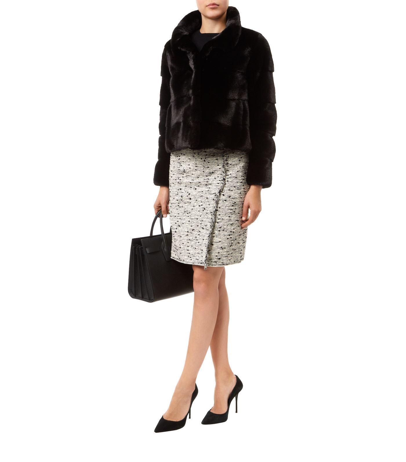 Black Mink Short  Fur Jacket  Nerzmantel