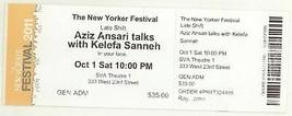 Rare AZIZ ANSARI TALKS WITH KELEFA SANNEH 10/1/11 NYC NY Concert Ticket! - $2.99