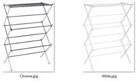 "Foldable Drying Rack Basic White or Chrome 14.5""L x 29.5""W x 41.75""H Money Saver - $82.29"