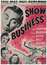 Sheet Music ~ You May Not Remember ~ Show Business Musical ~ 1944 ~  - $9.46
