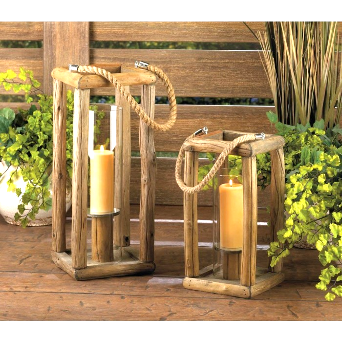 "Sylvan Tall Candle Lantern - 27 1/2"" high with handle; glass cylinder: 3 1/2' di"