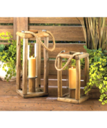 "Sylvan Tall Candle Lantern - 27 1/2"" high with handle; glass cylinder: 3... - $38.95"