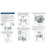 Drive Medical Combination Padded Seat Transfer Bench with Commode Openin... - $94.99