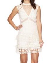 $240 Romeo Juliet Couture Victorian Mesh + Dot Dress Medium 6 8 Ivory Mo... - $122.72