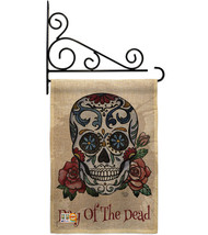 Day of the Dead Burlap - Impressions Decorative Metal Fansy Wall Bracket Garden  - $33.97