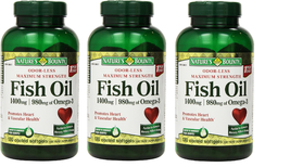 Nature's Bounty Fish Oil 1400 Mg 130 Softgels ( Pack of 3 ) - $85.99