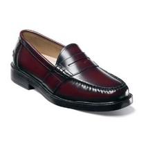 Mens Nunn Bush Lincoln shoes Burgundy penny loafer leather comfortable 8... - €73,86 EUR