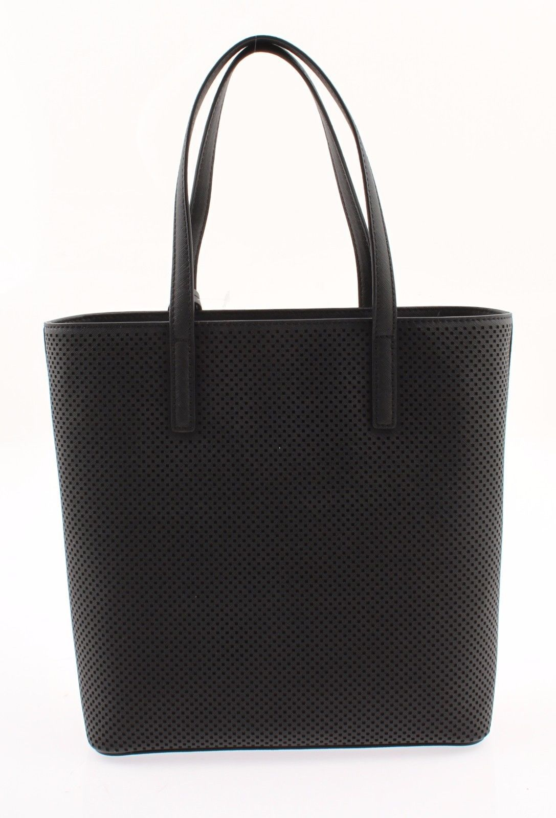 72084e4b3b99 ... NWT Authentic Michael Kors Hayley Medium North South Top Zip Leather  Tote Black ...